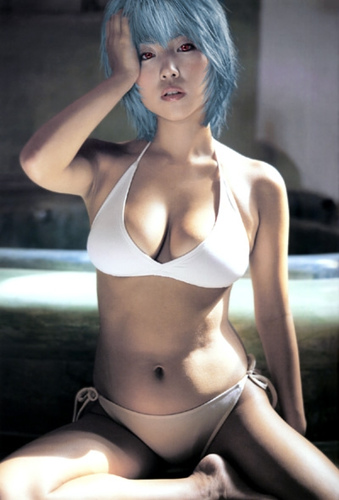 rei ayanami evangelion hot sexy cosplay